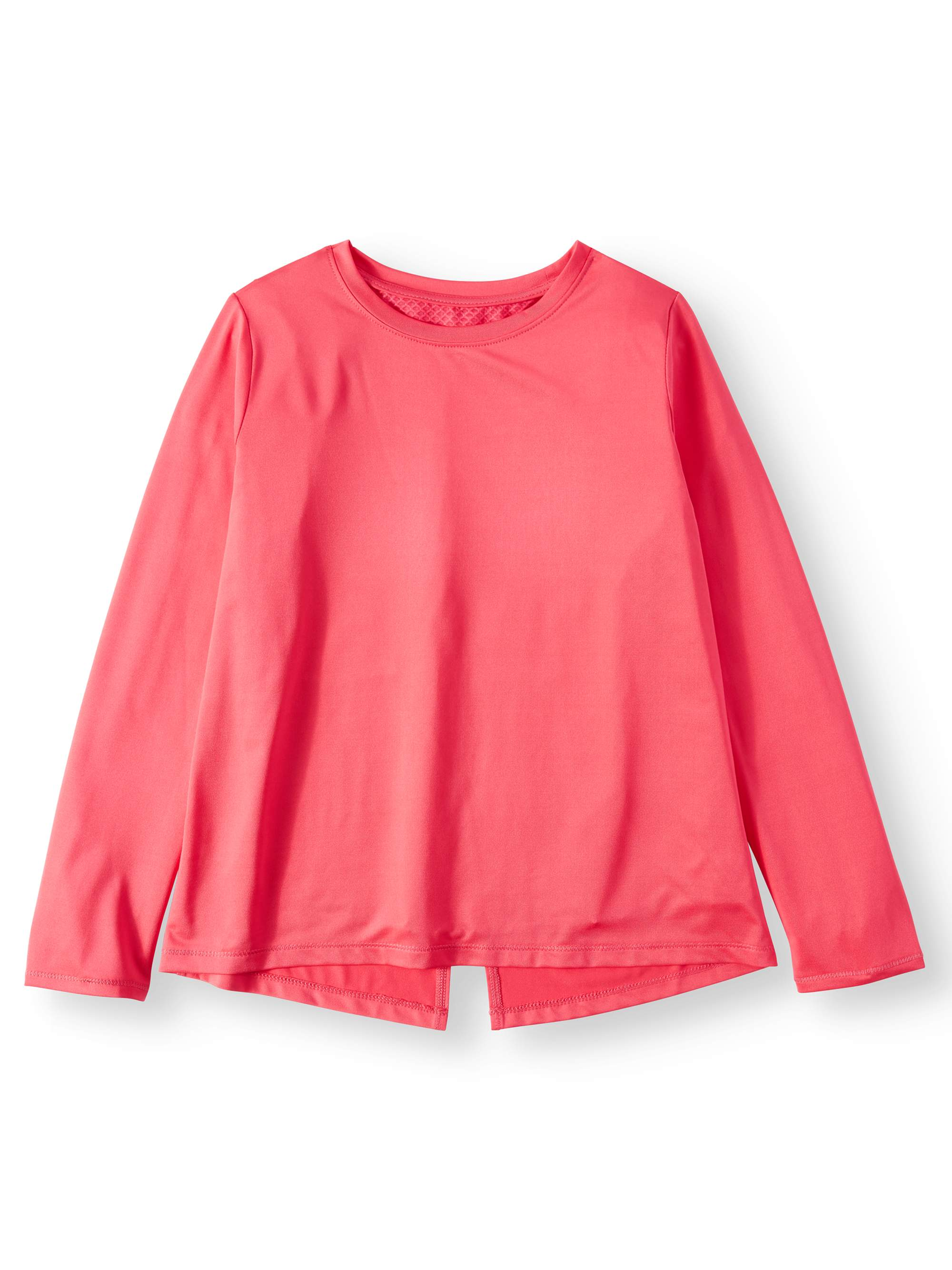 Pleat Back Active Long Sleeve Tee (Little Girls & Big Girls)