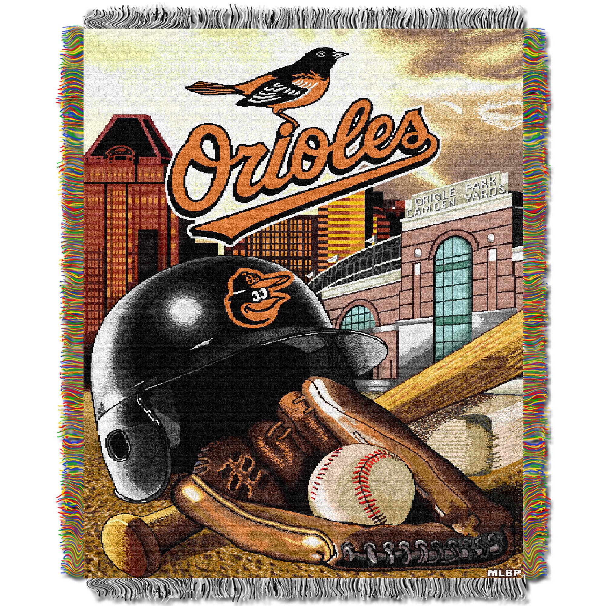 Baltimore Orioles The Northwest Company 48'' x 60'' Home Advantage Woven Throw - No Size