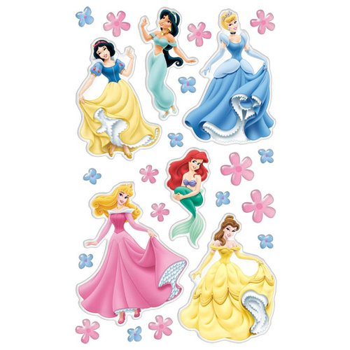 Disney Princess Gem Sticker Pad, 12-Pages