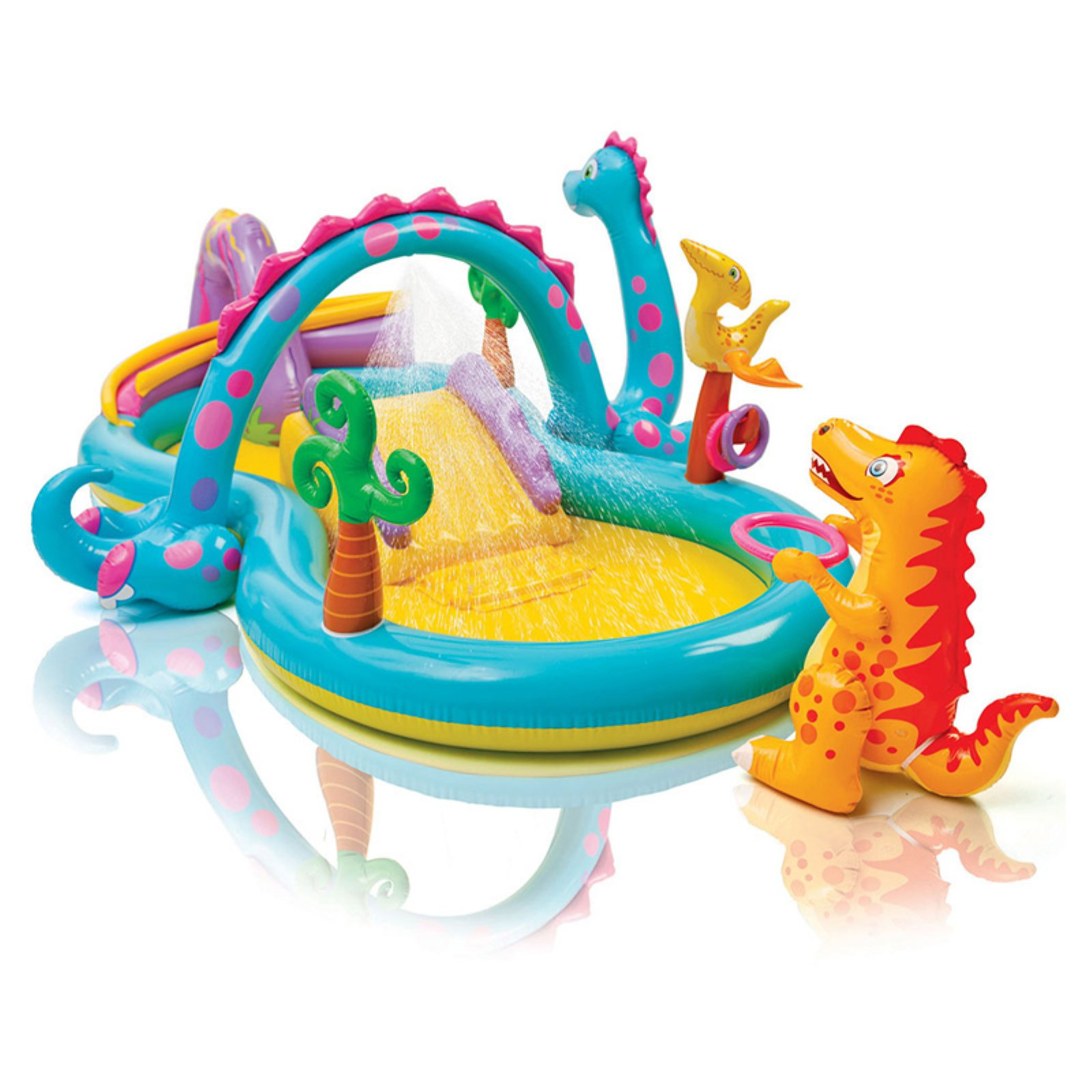 Intex Inflatable Dinoland Play Center with Sprayer