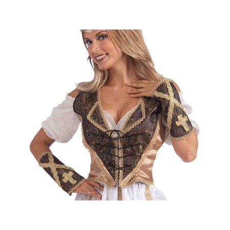 Medieval Madam Adult Costume Vest & Cuff Set One Size - Medieval Vests