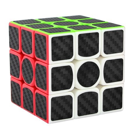 Luxmo 3x3x3 Magic Cube Carbon Fiber Sticker Smooth Speed Cube