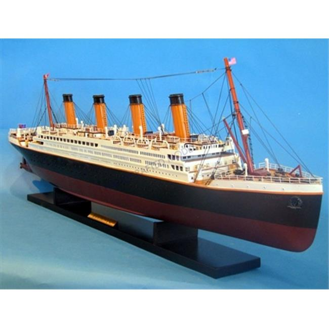 Handcrafted Model Ships A1701 RMS Titanic 40 in. Decorative Cruise Ship by Handcrafted Model Ships