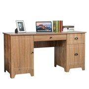 Gymax 59'' Computer Desk Writing Desk Study Workstation with Drawers Natural