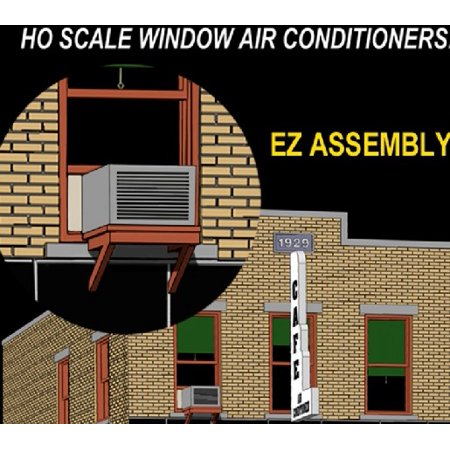 HO Grey Window Air Conditioners (4) HO Grey Window Air Conditioners (4)