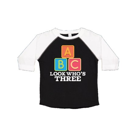 3rd Birthday 3 Year Old Alphabet Toddler T Shirt