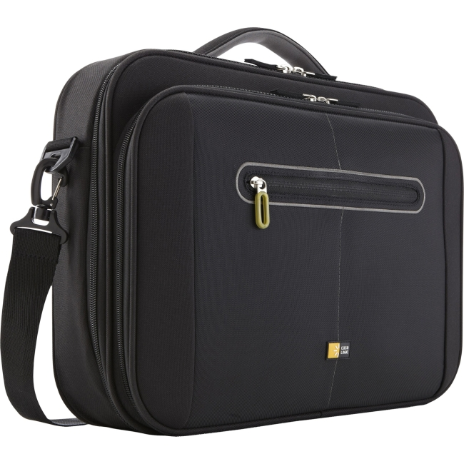 "Case Logic PNC-216Black Carrying Case (Briefcase) for 16"" Notebook, File Folder, Pen, Accessories, Business Card, Flash Drive, Paper Sheet, Magazine - Black - Nylon - Handle, Shoulder Strap - 12.8"" He"