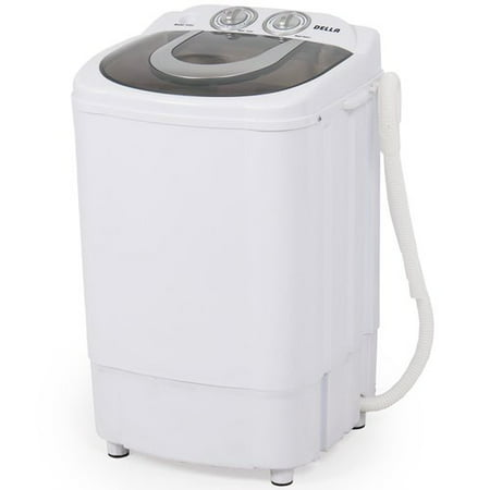 Della Mini Portable Washing Machine & Spin Wash 8.8 Lbs Capacity Compact Laundry Washer for Clothes, Garments](electricity free laundry machine system)