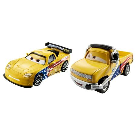 Disney/Pixar Cars Jeff Gorvette & John Lassetire Die-Cast (Jeff Gordon Race Car)