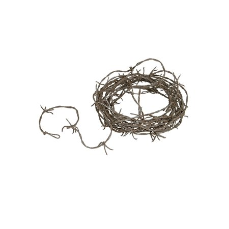 12 Foot Rusty Barbed Wire Garland Hanging Wall Decoration Decal - Barbed Wire Garland