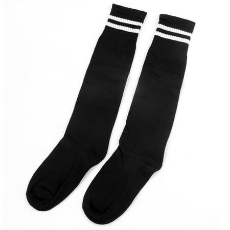 Men Women's Football Soccer Baseball Basketball Stockings Ankle Socks Black Pair