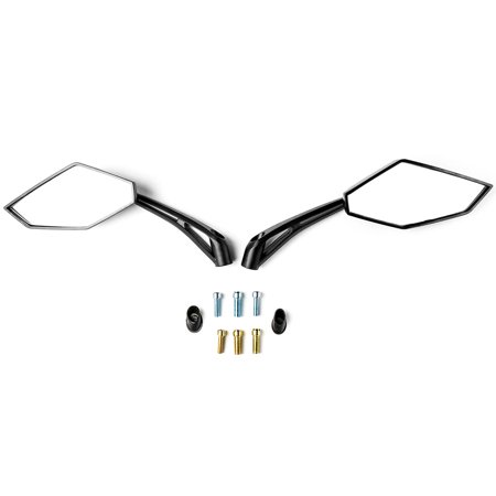 Krator Universal Black Motorcycle Mirrors for Victory Cross Country - image 3 of 4