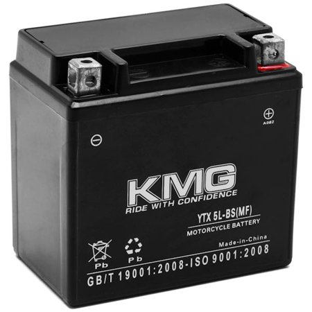KTM 450 450SMR 2009-2012 YTX5L-BS Sealed Maintenace Free Battery High Performance 12V SMF OEM Replacement Maintenance Free Powersport Motorcycle ATV Scooter Snowmobile KMG - image 3 de 3