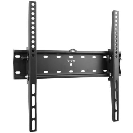 vivo heavy duty tv wall mount vesa bracket with adjustable tilt fits curved and flat screens. Black Bedroom Furniture Sets. Home Design Ideas