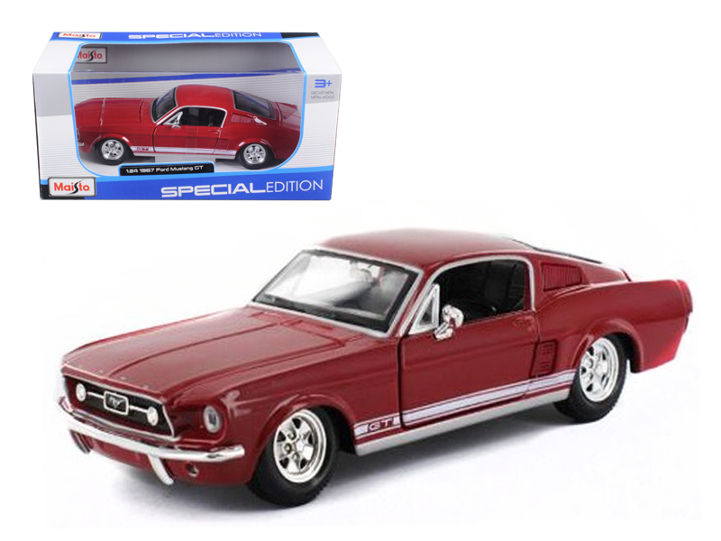 1967 Ford Mustang GT Red 1 24 Diecast Model Car by Maisto by Maisto