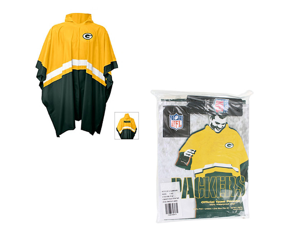 Green Bay Packers Official Team Rain Poncho by G-III