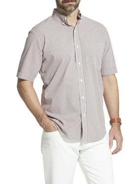 Arrow Men's Hamilton Poplin Plaid Short Sleeve Button Down Shirt