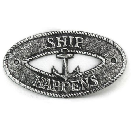 Nautical Signs (Handcrafted Nautical Decor Ship Happens Sign Wall D)