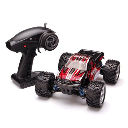 Mohoo 1 18 2 4G 4Wd High Speed Scale Remote Control Off Road Rc Car Sandy Land Monster Blue Red Truck  Blue Color