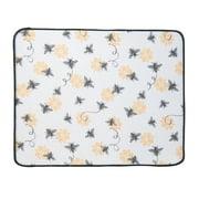 Queen Bee Yellow and Black Microfiber Kitchen Countertop Drying Mat