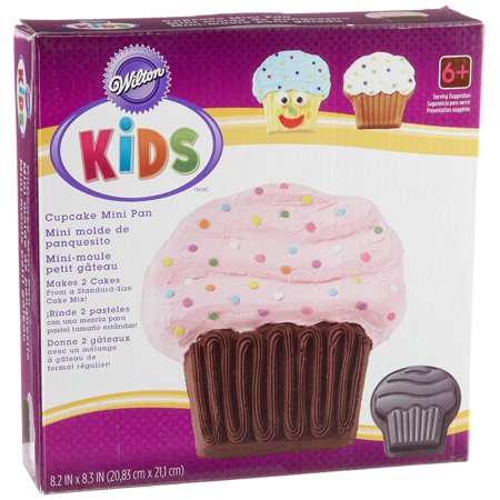 Kids Cupcake Mini Cake Pan Fun Shape And Over Emphasized Detail Of Provide A Road Map For Easy Decorating By Wilton Ship From US