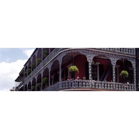 People sitting in a balcony French Quarter New Orleans Louisiana USA Canvas Art - Panoramic Images (18 x 6) (New Orleans Halloween French Quarter)