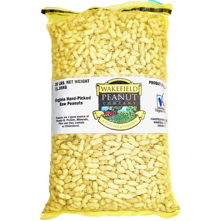 Virginia Peanuts Bulk Inshell Animal Peanuts for Squirrels, Birds, Deer, Pigs and a Wide Variety of Wildlife, 25LB