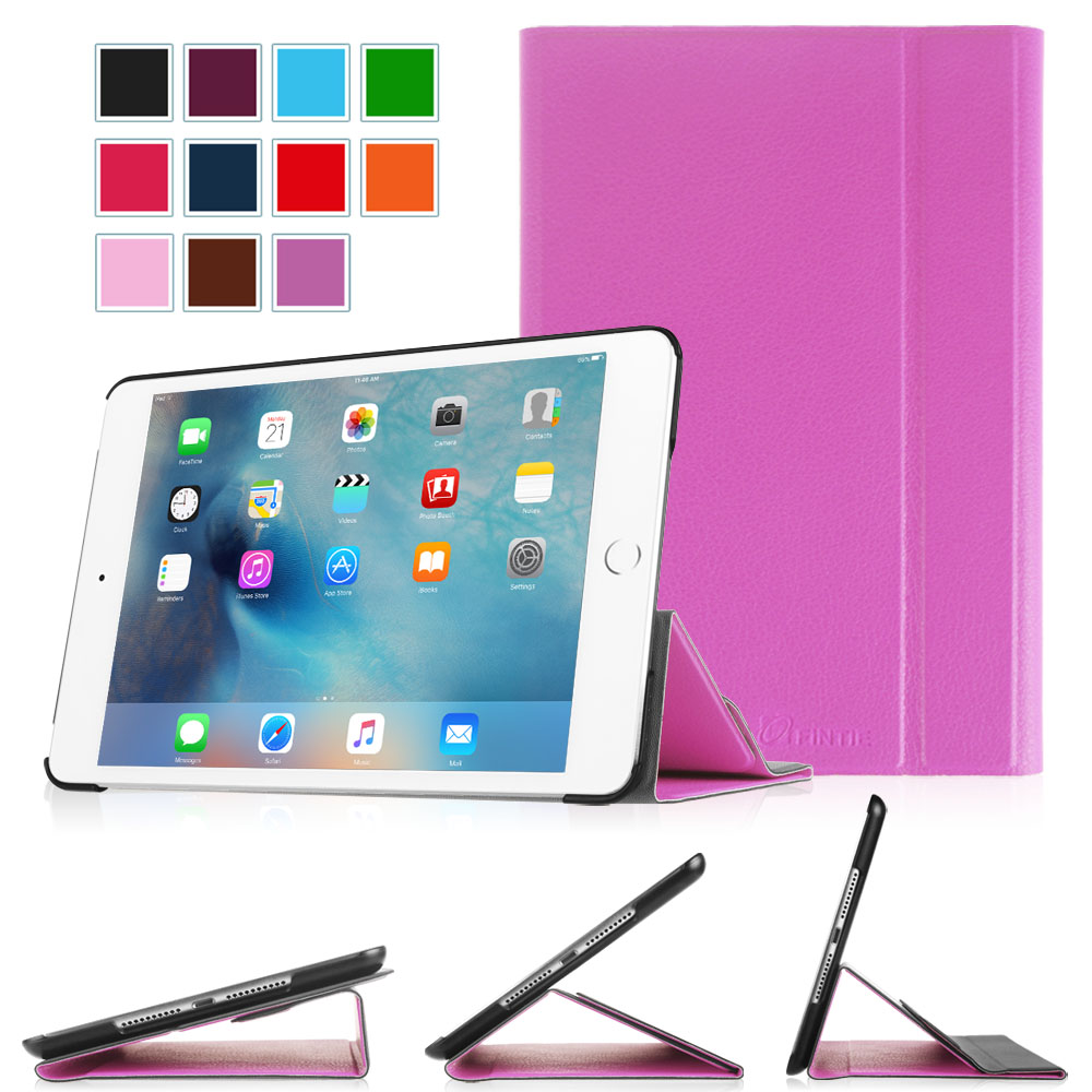 Fintie iPad mini 4 2015 Case SmartBook Stand Cover Supports 3 Viewing Angles with Auto Sleep/Wake Feature, Violet