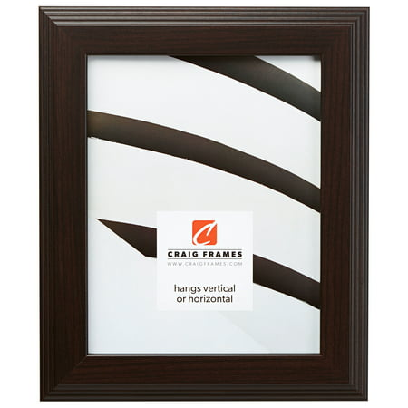 Craig Frames Mossehaus, Contemporary Dark Brown Picture Frame, 12 x 18 Inch