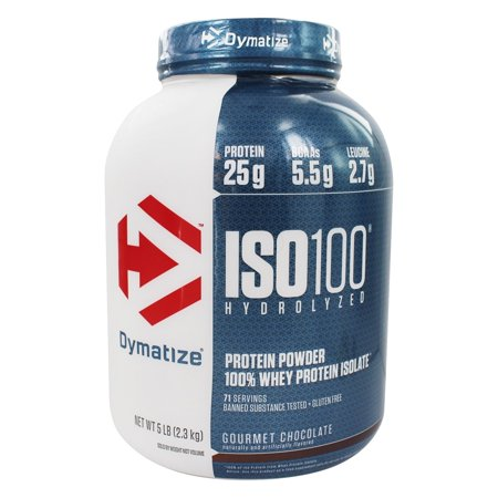 Dymatize Nutrition - ISO 100 100% Hydrolyzed Whey Protein Isolate Powder Gourmet Chocolate - 5 lbs. ()