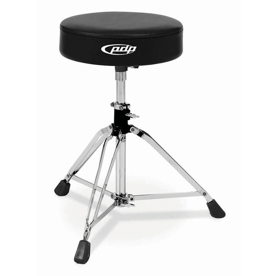 Pacific PDDT80004 800 Series Medium-Weight Standard Drum Throne with Black Rubber Tips by Pacific