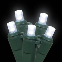 60 cool white wide angle led indoor / outdoor christmas lights