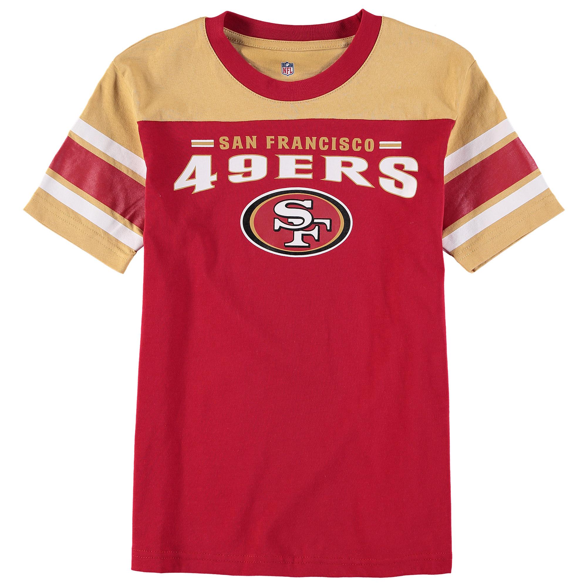 San Francisco 49ers Youth Fan Gear Loyalty T-Shirt - Gold/Scarlet