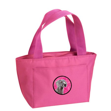 Pink Weimaraner Lunch Bag or Doggie Bag LH9386PK