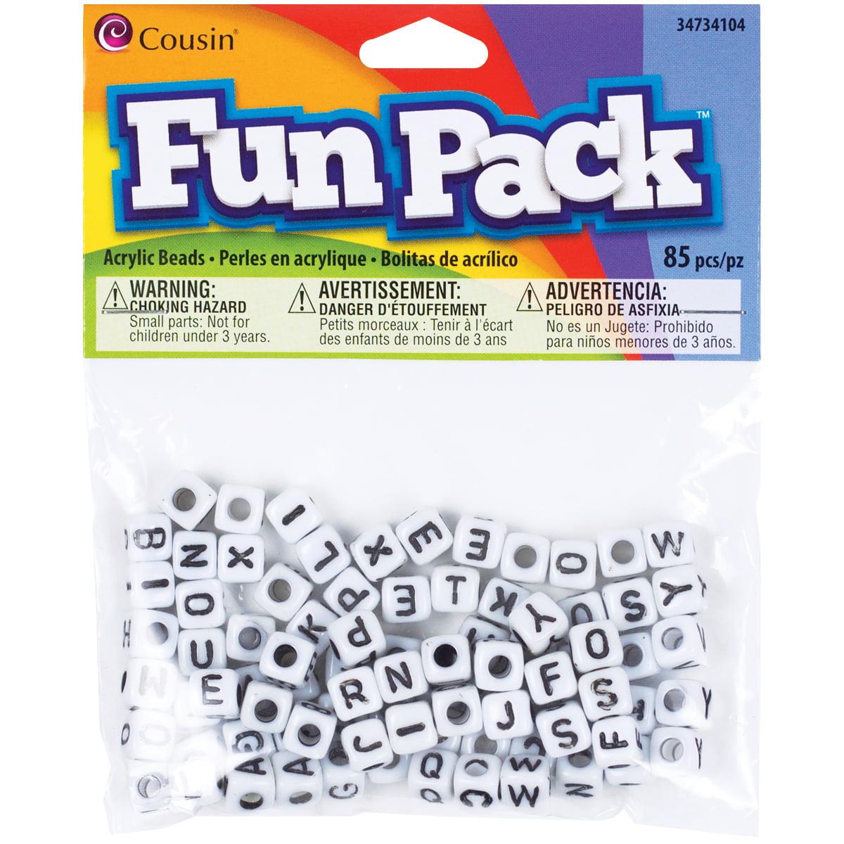 Cousin 34734128 Fun Packs 125-Piece Multi Glitter Star Beads