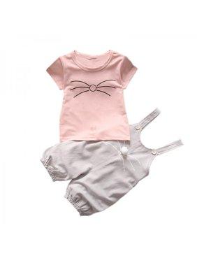 e4b4ec422 Product Image Lavaport Korean Style Baby Girl Cotton Short Sleeve Shirts +  Shorts Clothing Set