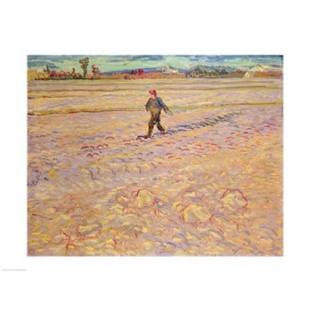 The Sower 1888 Stretched Canvas - Vincent Van Gogh (24 x