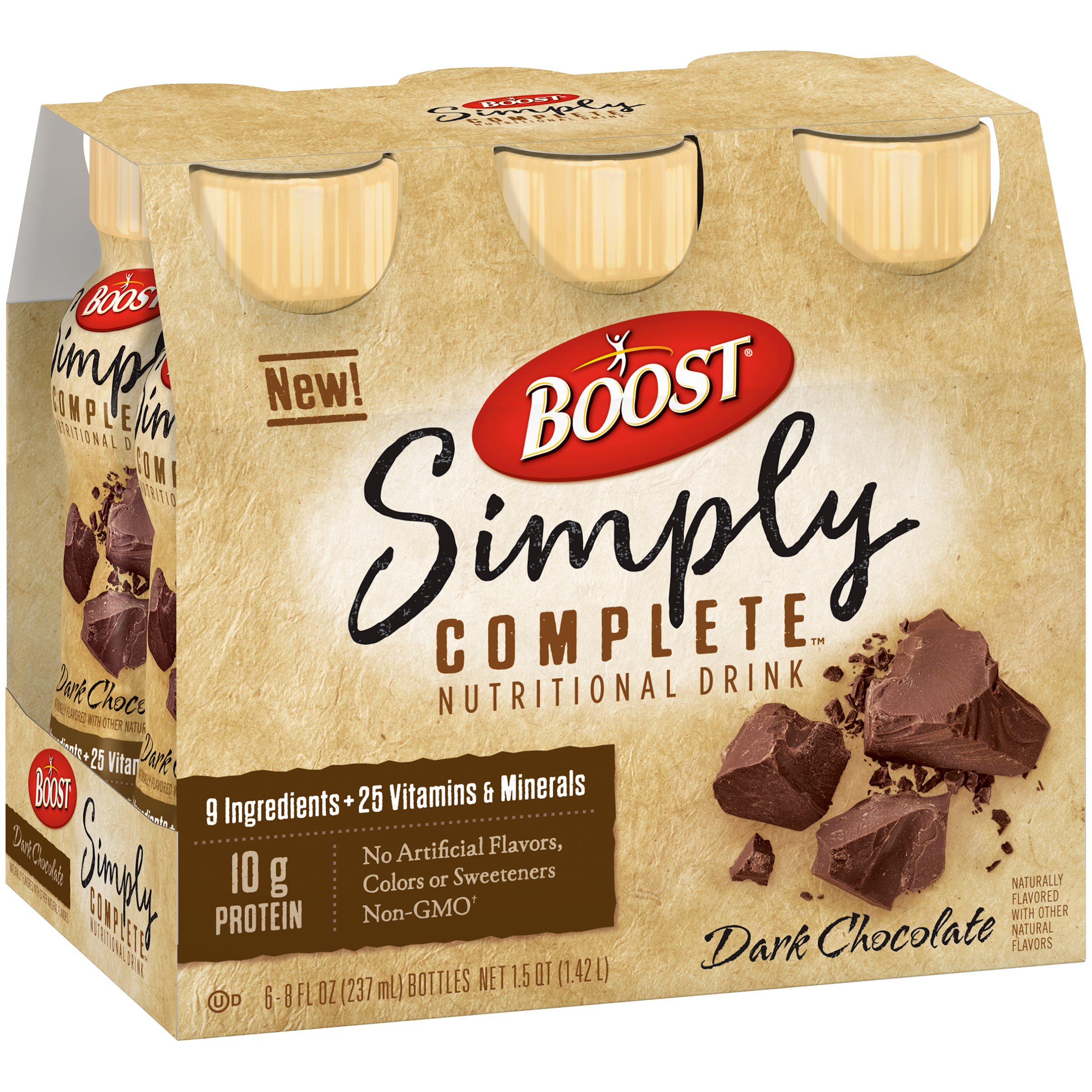 Boost® Simply Complete™ Dark Chocolate Nutritional Drinks, 8 fl oz, 6 count