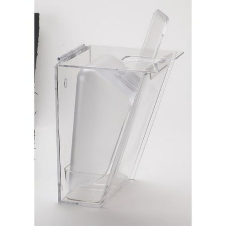 6 Oz Clear Polycarbonate Scoop - Cal-Mil Wall Mount Ice Scoop Holder