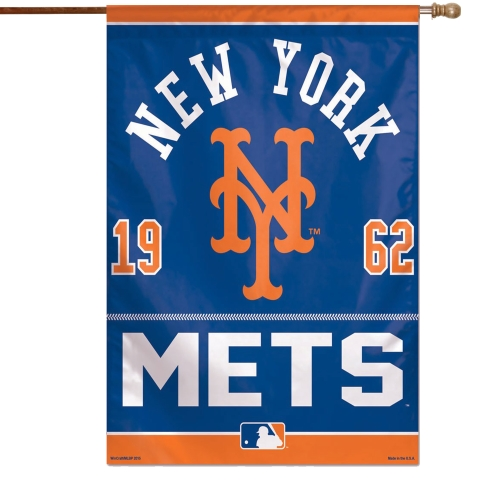 """New York Mets WinCraft 27"""" x 37"""" One-Sided Vertical Banner Flag - No Size"""