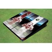 Mississippi State University Bulldog Field Long Strip Alternating Themed Cornhole Boards