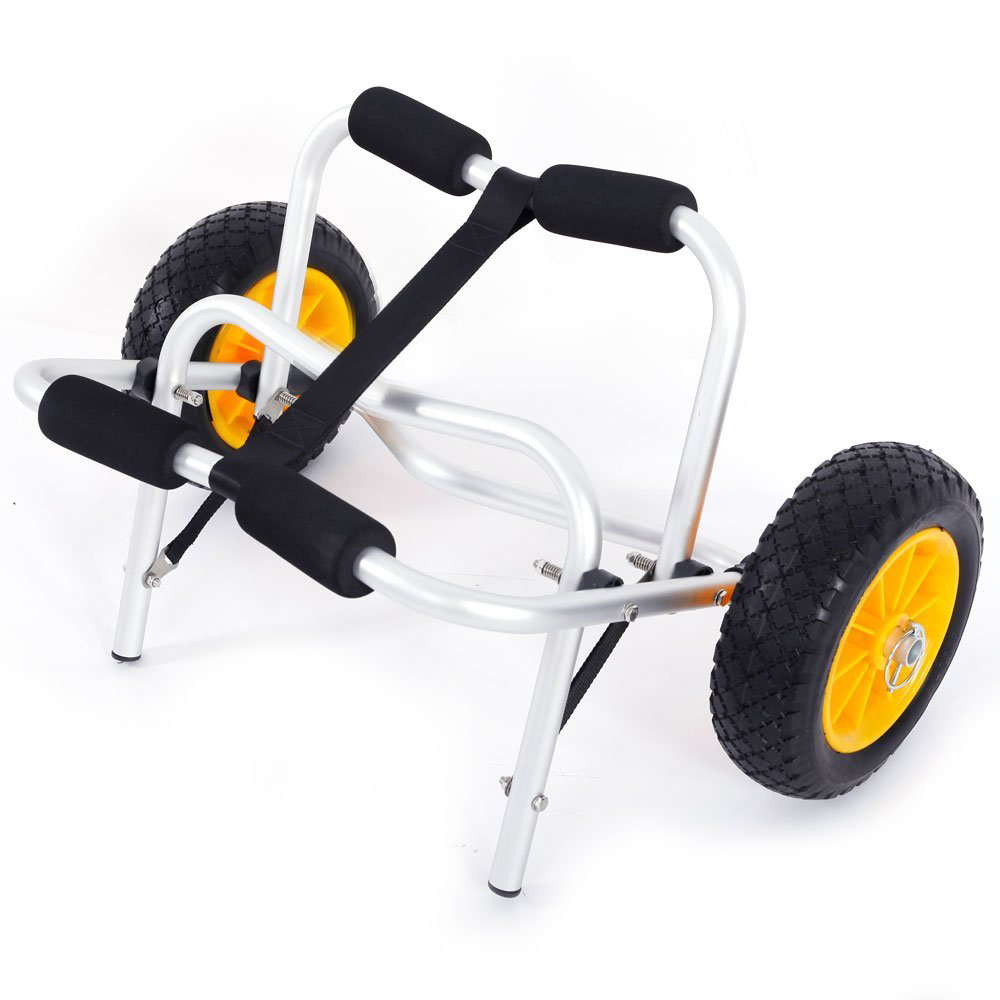 Zimtown Duable Boat Kayak Canoe Carrier Transport Trailer Tote Trolley Dolly Kayak Cart W/custom-made Wheel