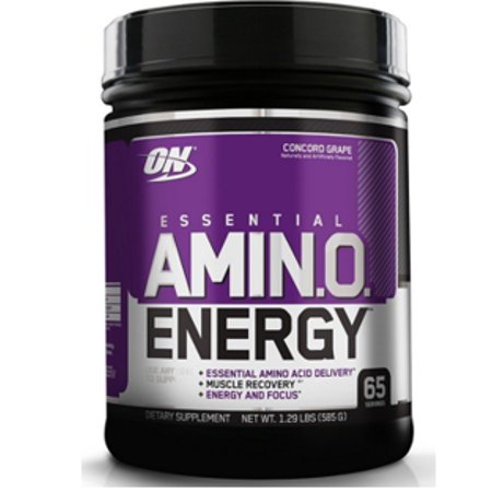 Optimum Nutrition Amino Energy Pre Workout + Essential Amino Acids Powder, Concord Grape, 65 (Take Amino Acids Before Or After Workout)
