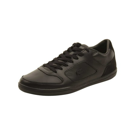 (Lacoste Mens Court-Minimal 117 Sneakers in Black)