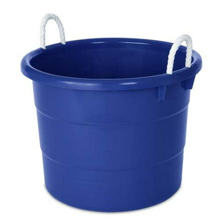 Homz 18 Gallon Rope-Handled Tub, Set of 4 (Homz 18 Gallon Storage Tote Set Of 8)