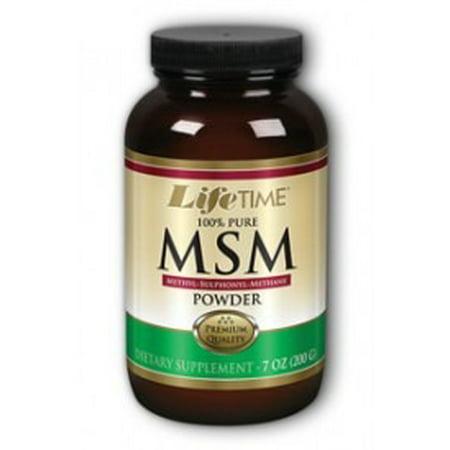 - MSM 100% Pure 2500mg LifeTime 7 oz Powder