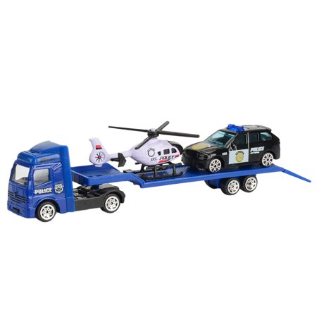 Children Educational Toy Truck Toy Car Model Scenes Set Portable Storage
