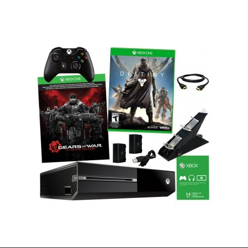Xbox One 500GB Gears of War Bundle with 2 Games & Dual Charger