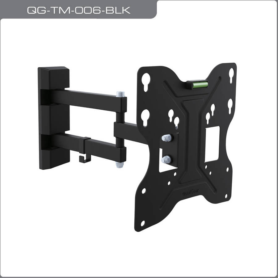 "QualGear QG-TM-006-BLK Universal Low-Profile Tilting Wall Mounting for 23""-42"" LED TVs"