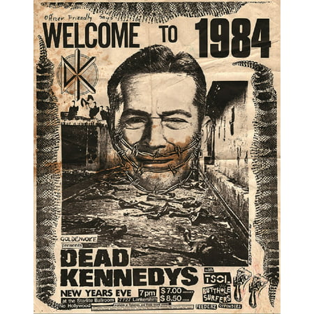 Welcome to 1984 by Annex Punk Rock Dead Kennedys Concert Poster Framed Art Print